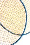 Matériel de badminton vibrant images libres de droits
