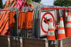 Matériel de construction de routes Images libres de droits