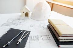 Matériel de construction Réparez le travail Dessins pour construire Archi photos libres de droits