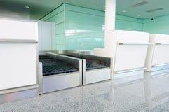 Matériel de criblage de bagages d'aéroport Photographie stock