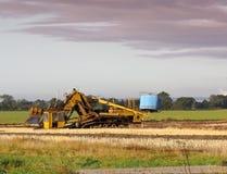 Matériel de drainage agricole Photos libres de droits