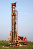 Matériel de forage de puits d'eau photo stock