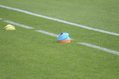 Matériel de formation de terrain de football du football image stock