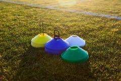 Matériel de formation du football du football Images stock