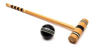 Matériel de jeu de croquet images stock