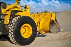 Matériel de machines de construction d'excavatrice de chargeur photo stock