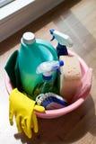 Matériel de nettoyage Photo stock