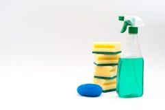 Matériel de nettoyage d'isolement Image stock