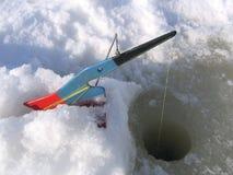 Matériel de pêche de glace Image libre de droits