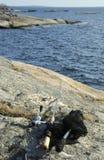 Matériel de pêche maritime Photographie stock