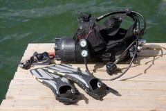 Matériel de plongée Image libre de droits