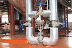 Matériel de production de biodiesel dans une usine Image libre de droits