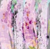 Matériel de rideaux en soie pourpre avec les fleurs abstraites Draper pour des rideaux et des feuilles illustration de vecteur