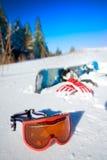 Matériel de Snowboard Photo libre de droits