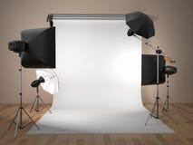 Matériel de studio de photo. L'espace pour le texte. illustration libre de droits