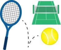 Matériel de tennis Photo libre de droits