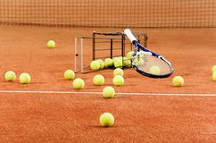 Matériel de tennis de formation Photos libres de droits