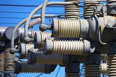 Matériel de tension électrique élevée Image libre de droits