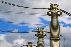 Matériel de tension électrique élevée Image stock