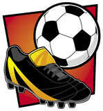 Matériel du football Photos libres de droits