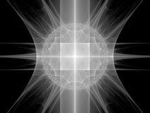 Matériel futuriste bleu dans l'espace illustration libre de droits