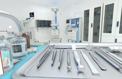 Matériel médical, dispositifs dans la salle d'opération moderne illustration 3D illustration libre de droits