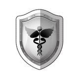 Matériel médical sur le bouclier illustration libre de droits