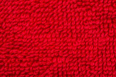 Matériel rouge de tissu de coton Photo stock