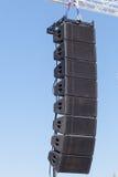 Matériel son d'étape Haut-parleurs audio industriels de concert puissant d'étape Image libre de droits