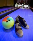 Matériels de bowling Photos stock