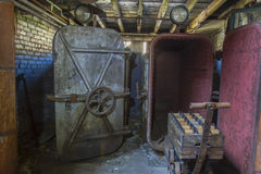 Matériels vieillissants dans l'usine de fil Photo libre de droits