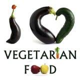 mat älskar jag vegetarian Royaltyfri Foto