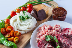 Mat av Thailand Arkivbilder