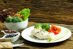 Mat Bakgrund för matfrukostmat mathälsa Mat äter E Arkivfoto