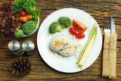 Mat Bakgrund för matfrukostmat mathälsa Mat äter E Arkivfoton