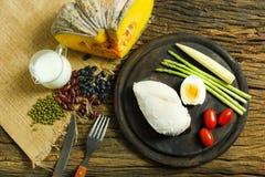 Mat Bakgrund för matfrukostmat mathälsa Mat äter E Fotografering för Bildbyråer
