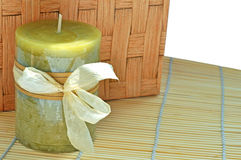 Mat candle Royalty Free Stock Photos