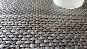Mat. A dining mat at an angle Stock Photo