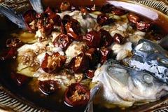 mat för fisk för chiliporslin läcker Royaltyfria Foton