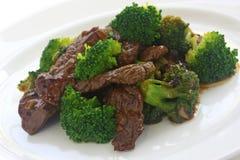 mat för nötköttbroccolikines Arkivfoton