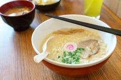 Mat för nudlar för Tonkatsu ramen japansk Royaltyfri Fotografi