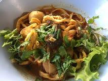 Mat för sojabönor för Khao soikhao thai Arkivbild