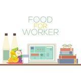 Mat för sunt matbegrepp för arbetare Royaltyfria Foton