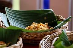Mat för thailändska nudlar för block thailändsk Royaltyfri Fotografi