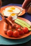 Mat för ungkarlfrukost Royaltyfri Fotografi