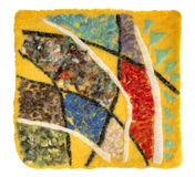 The mat of felted wool Royalty Free Stock Images