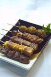 mat grillade japanska blandade skillers Royaltyfria Foton