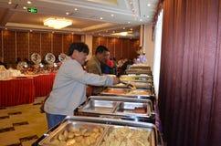 Mat i hotell Fotografering för Bildbyråer