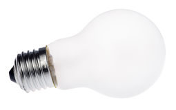 Mat incandescent electric lamp on white Royalty Free Stock Photo