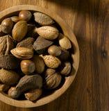 mat inramniner blandad nuts serie Arkivbilder